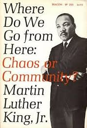 Image result for mlk chaos or community